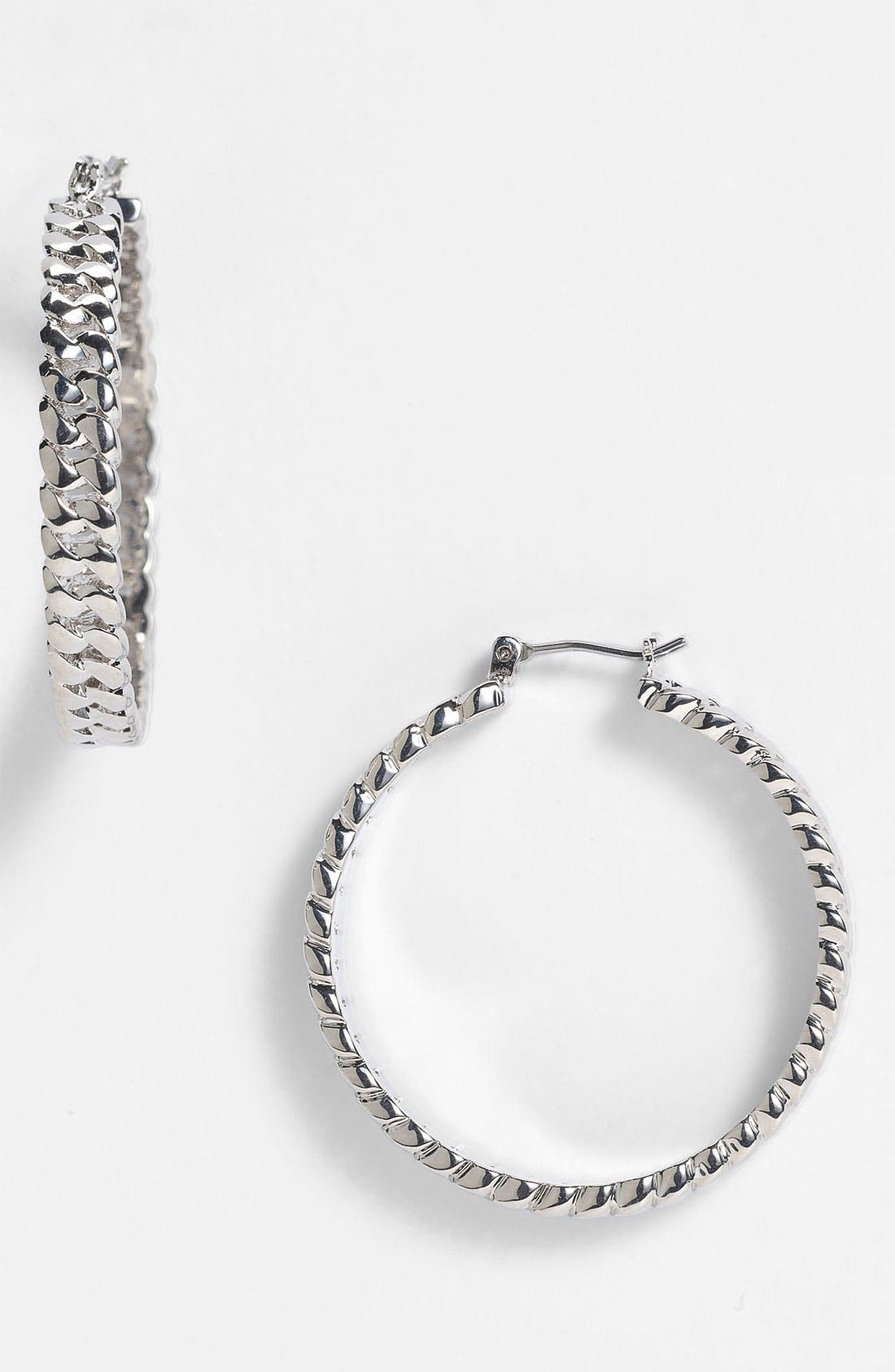 Alternate Image 1 Selected - MARC BY MARC JACOBS 'Toggles & Turnlocks' Hoop Earrings