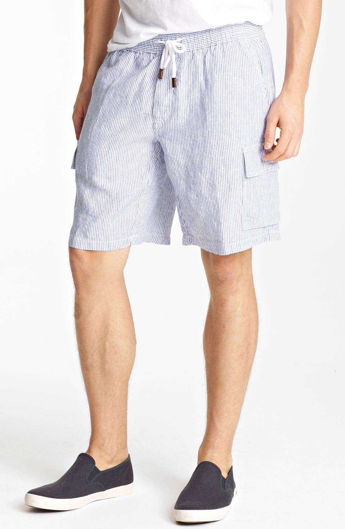 Alternate Image 1 Selected - Vilebrequin Seersucker Linen Cargo Shorts