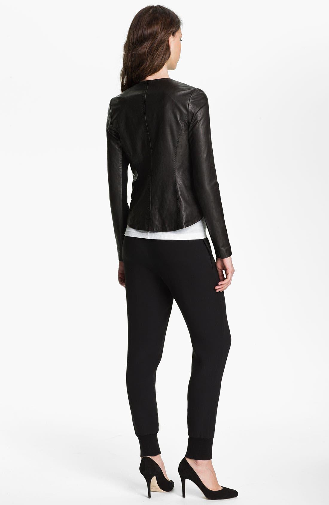 Alternate Image 2  - Vince Asymmetrical Zip Leather Jacket
