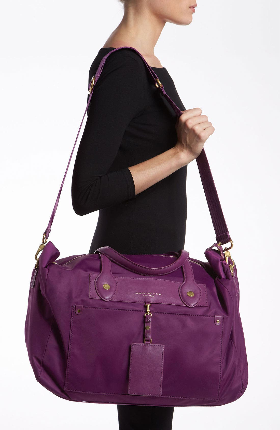 Alternate Image 2  - MARC BY MARC JACOBS 'Preppy Nylon - Pearl' Duffel Bag