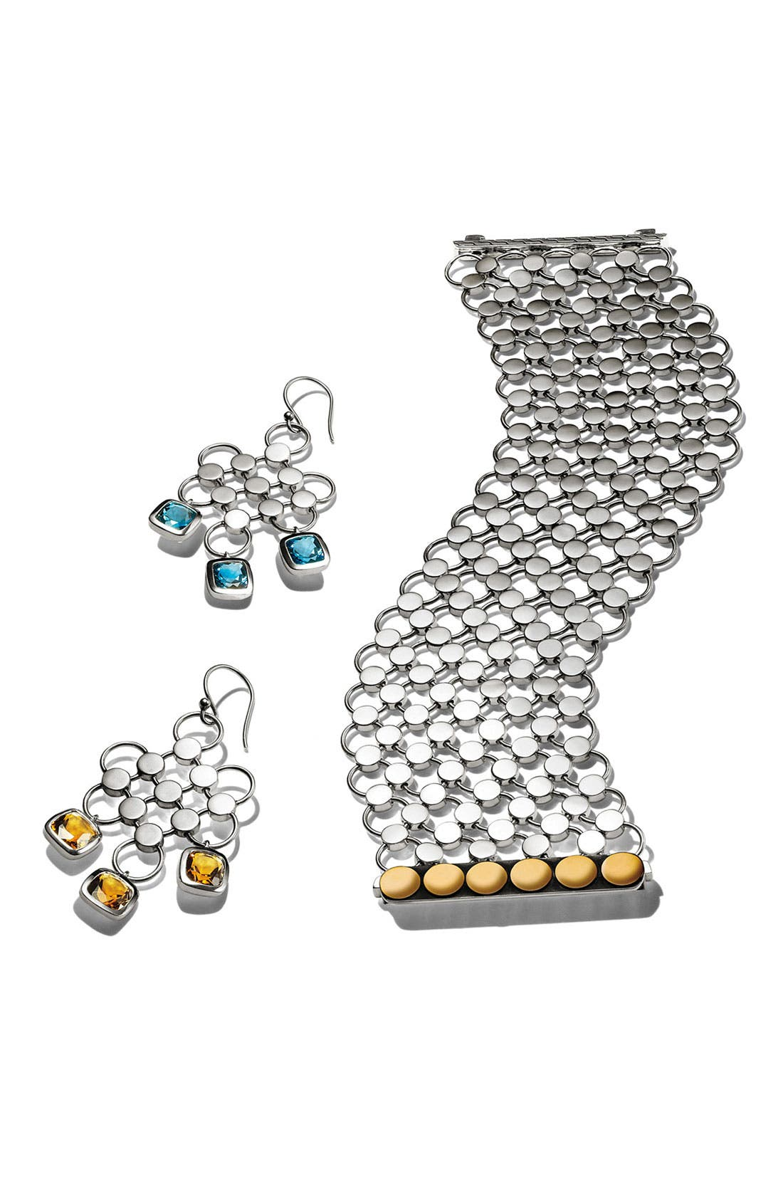 Alternate Image 3  - John Hardy 'Batu Dot' London Blue Topaz Chandelier Earrings