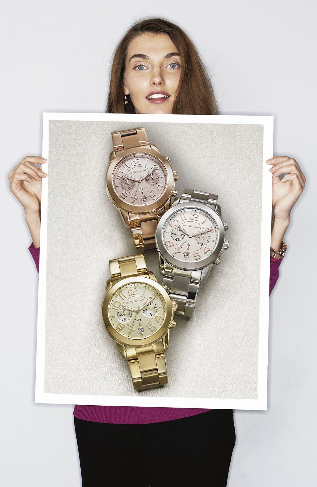 Alternate Image 4  - Michael Kors 'Mercer' Chronograph Bracelet Watch, 41mm