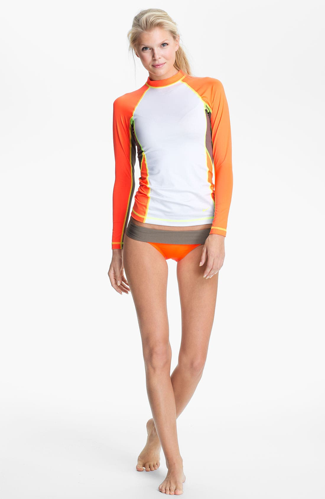 Alternate Image 3  - Nike 'Bondi' Colorblock Bikini Bottoms