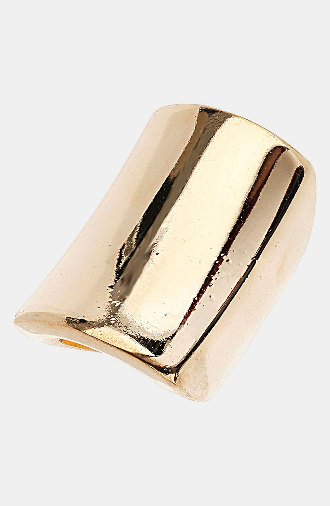 Alternate Image 1 Selected - Topshop Smooth Rectangle Ring