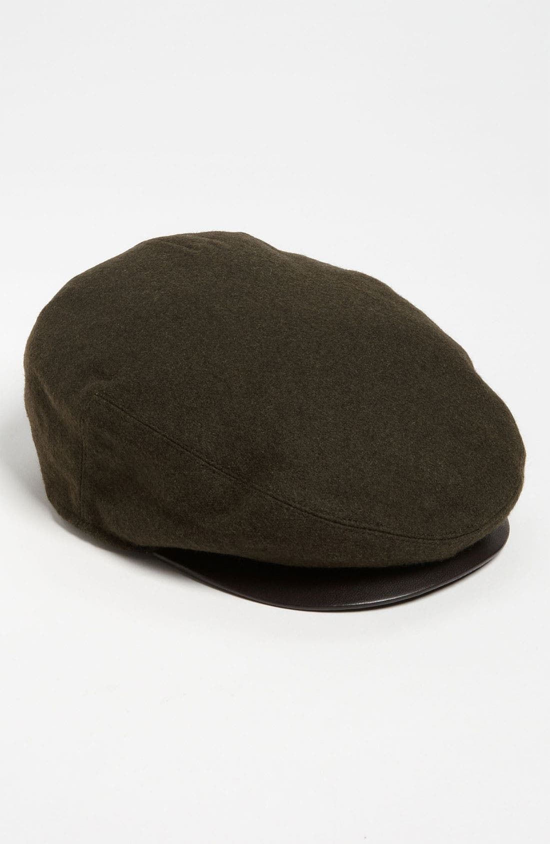 'Ivy' Leather Trim Cap,                         Main,                         color, Green