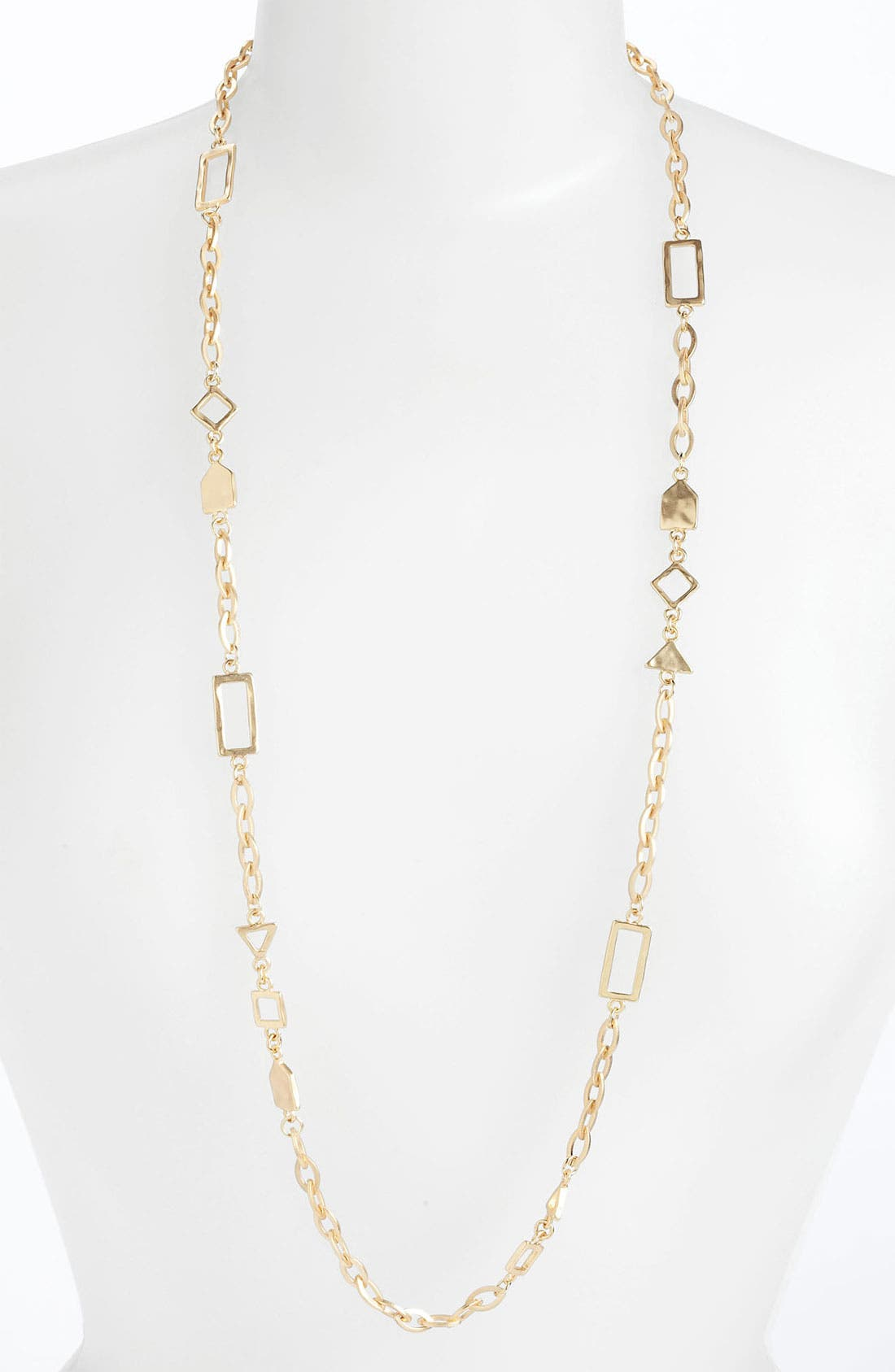 Alternate Image 1 Selected - Nordstrom Tribal Cutout Long Station Necklace