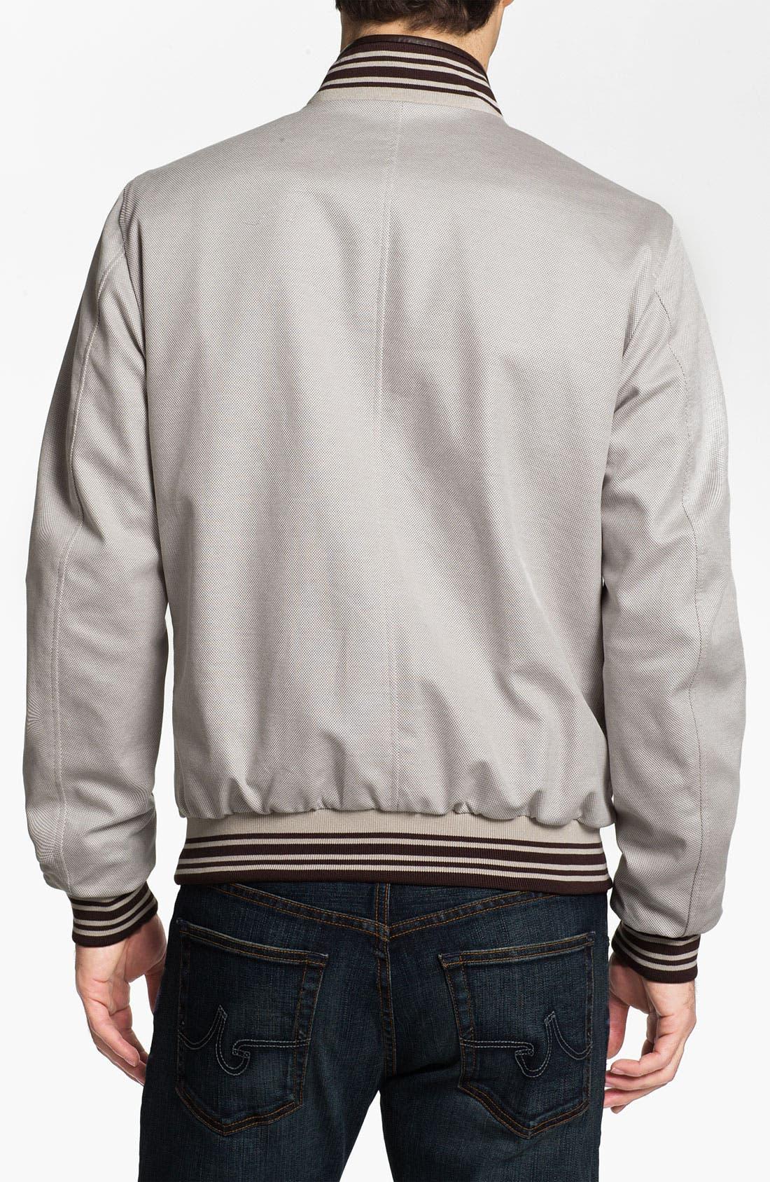 Alternate Image 6  - Canali Reversible Leather Jacket