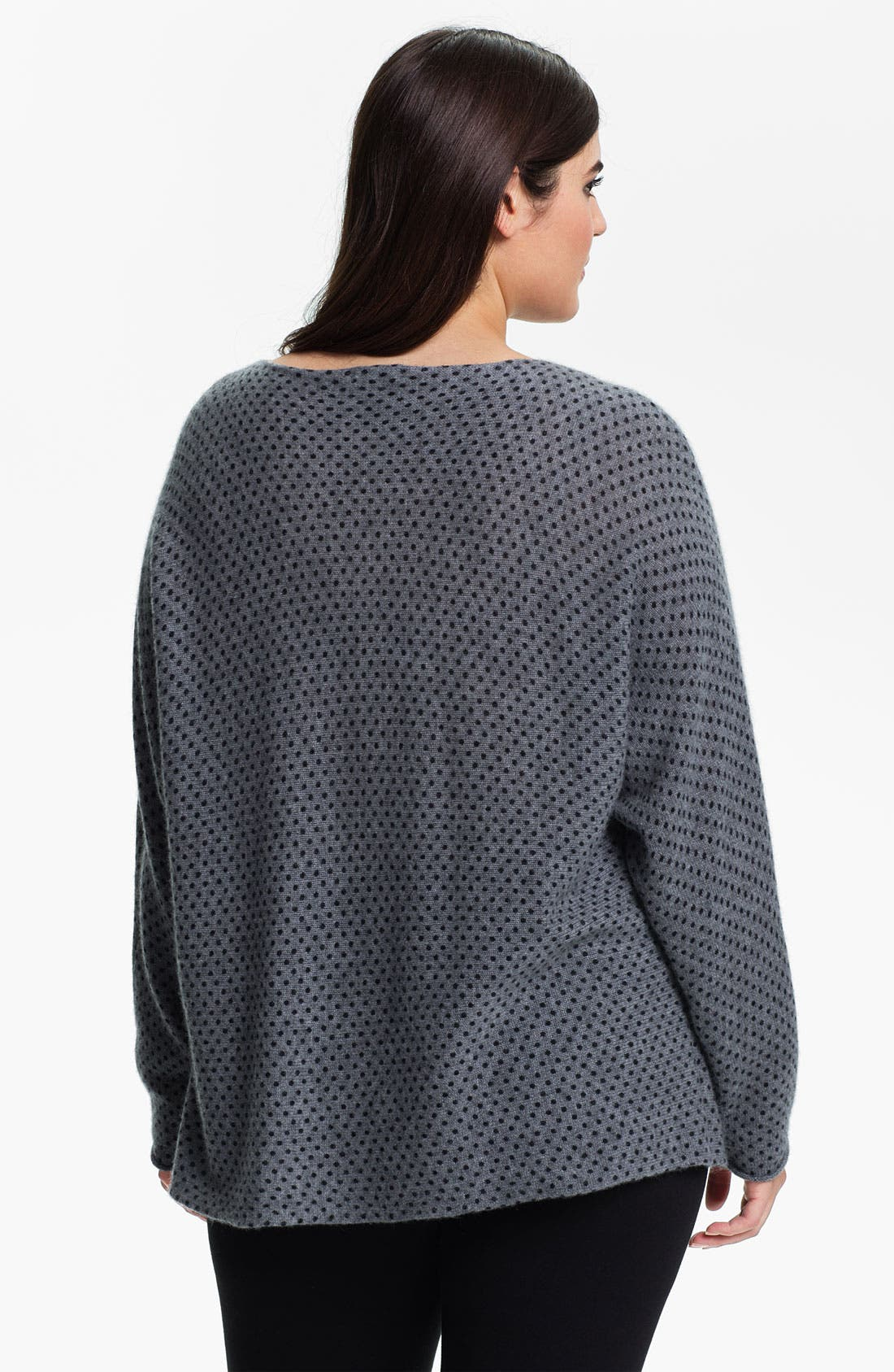 Alternate Image 2  - Only Mine 'Dots' Dolman Cashmere Sweater (Plus)