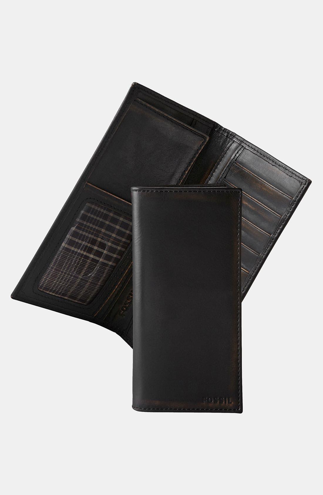 Main Image - Fossil 'Carson' Secretary Wallet