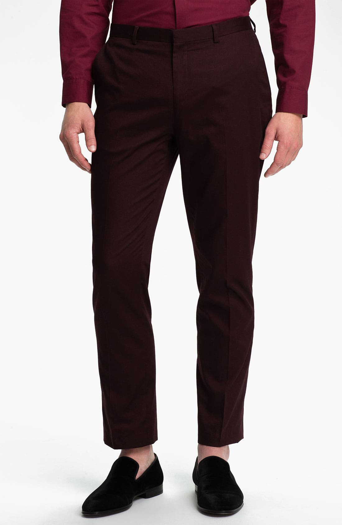 Alternate Image 1 Selected - Topman Skinny Cotton Trousers