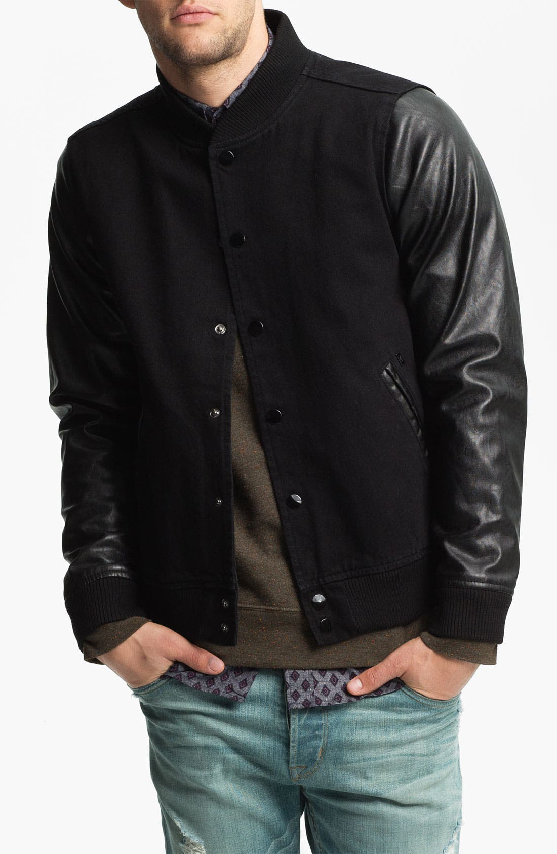 Alternate Image 1 Selected - Obey 'Youth' Varsity Jacket
