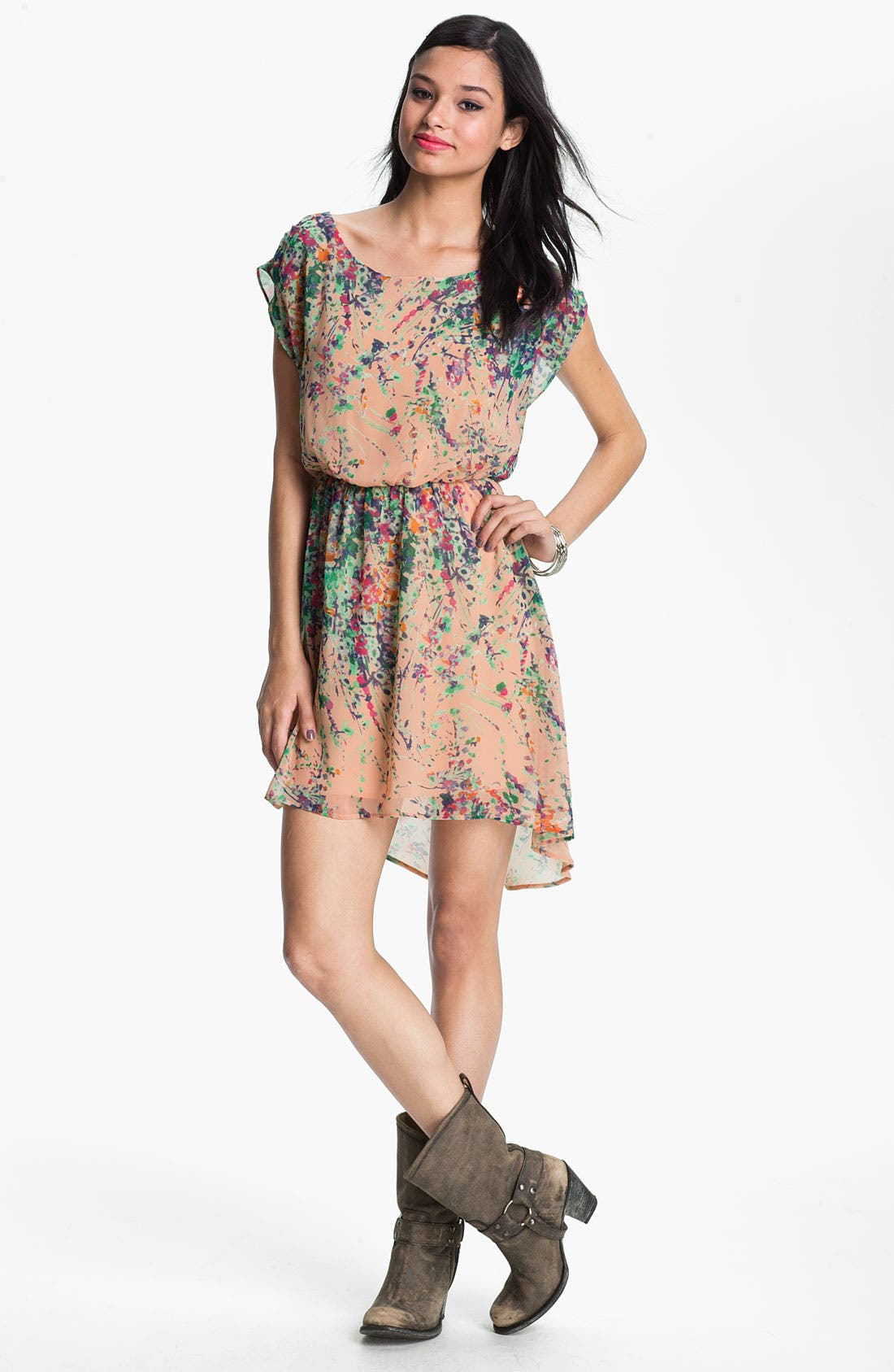 Alternate Image 1 Selected - Lush 'Dakota' Chiffon Dress (Juniors)