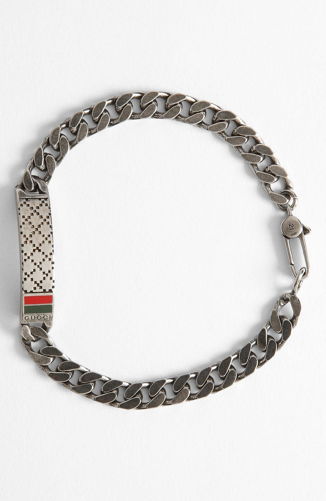Main Image - Gucci Diamante Pattern Sterling Silver Bracelet