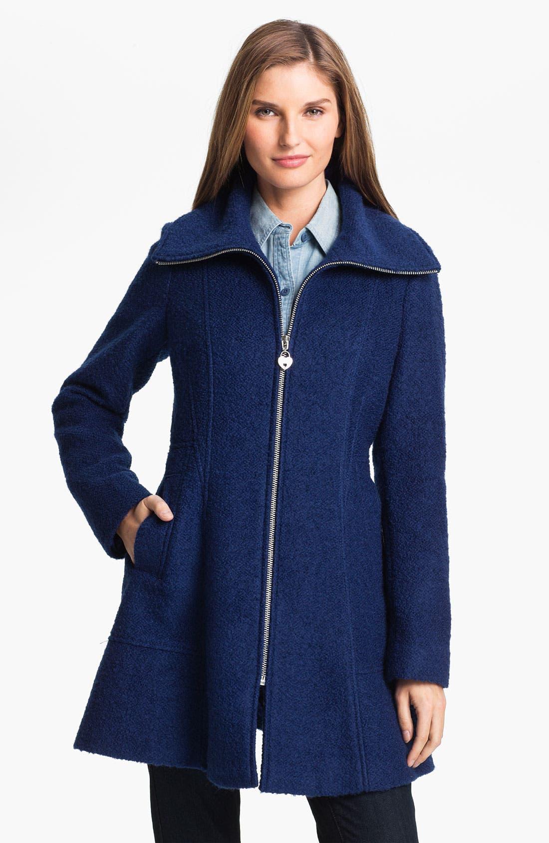 Alternate Image 1 Selected - GUESS Bouclé Walking Coat (Petite) (Online Exclusive)