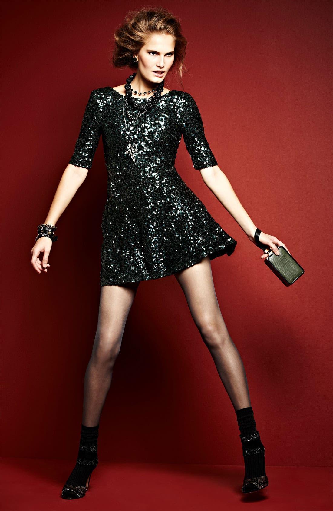 Alternate Image 5  - French Connection 'Ozlem' Scoop Back Sequin Fit & Flare Dress