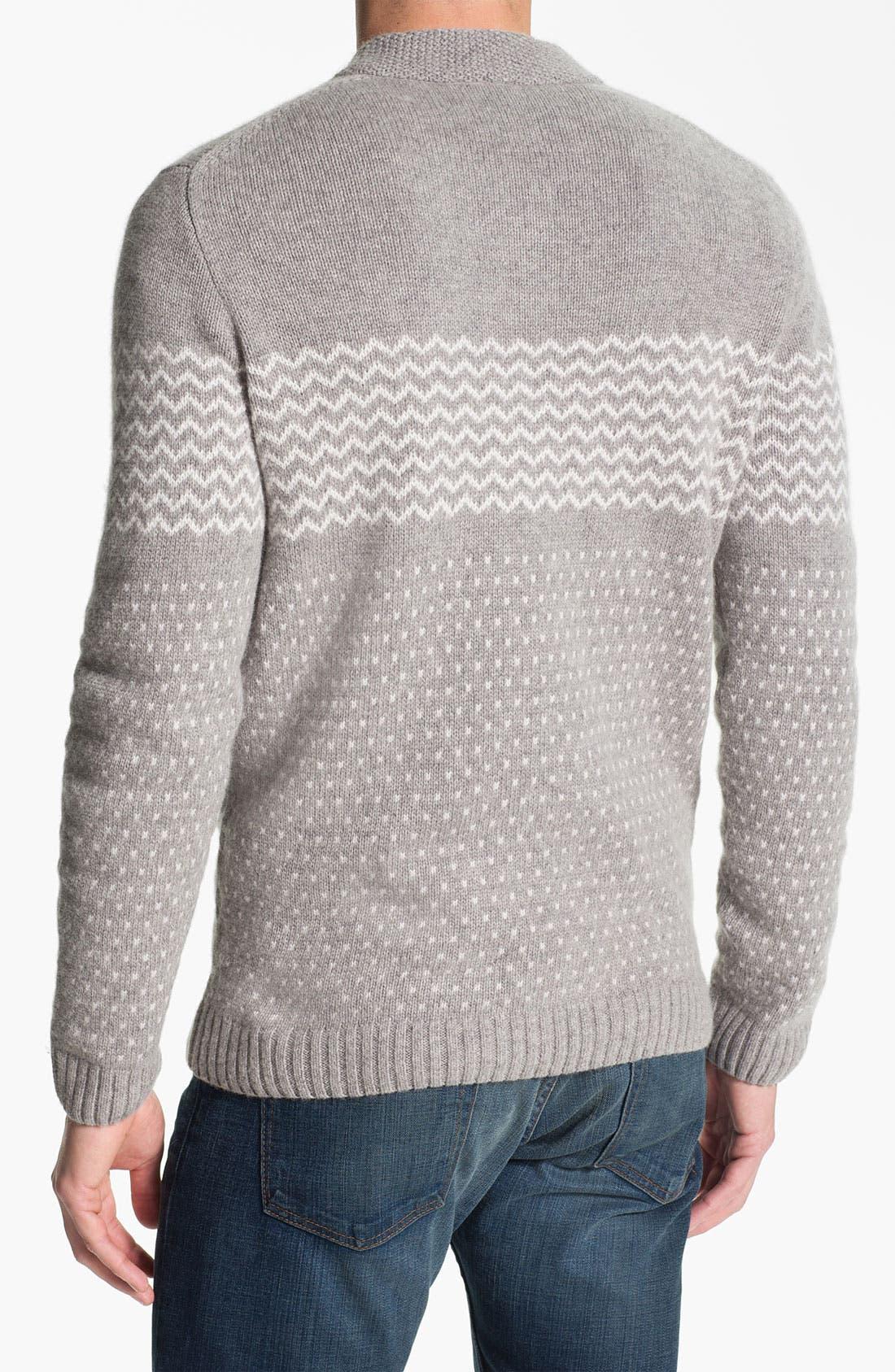 Alternate Image 2  - Lacoste Shawl Collar Angora Blend Sweater
