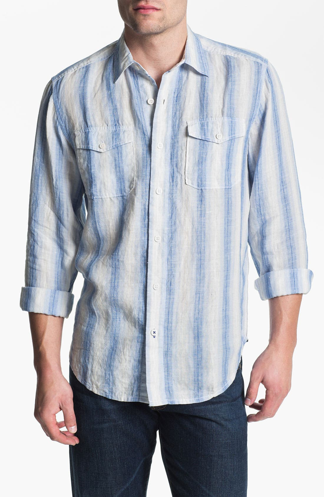 Alternate Image 1 Selected - Tommy Bahama 'Eastern Seaboard' Linen Sport Shirt (Big & Tall)
