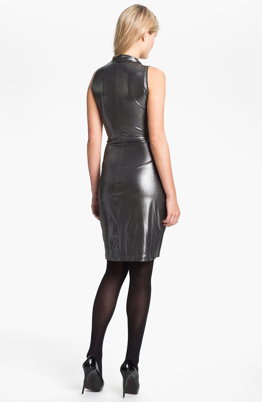 Alternate Image 2  - KAMALIKULTURE Sleeveless Faux Wrap Dress