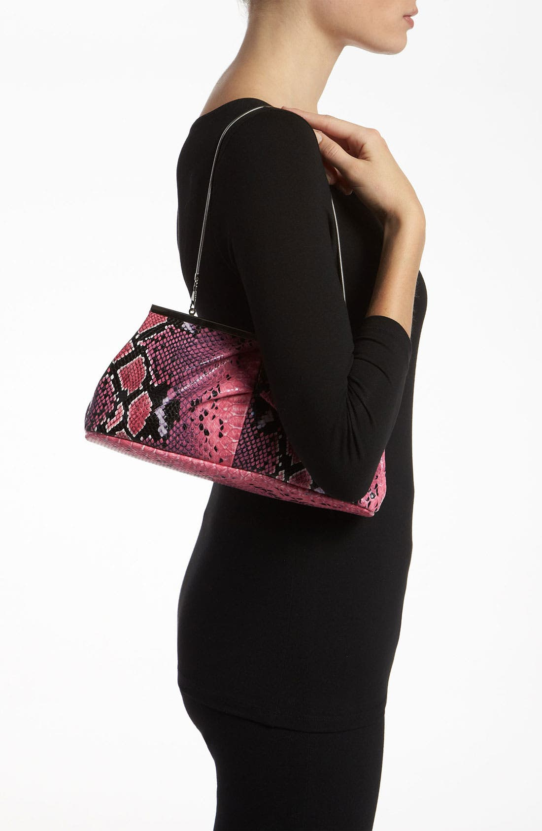 Alternate Image 5  - Natasha Couture Snake Print Clutch