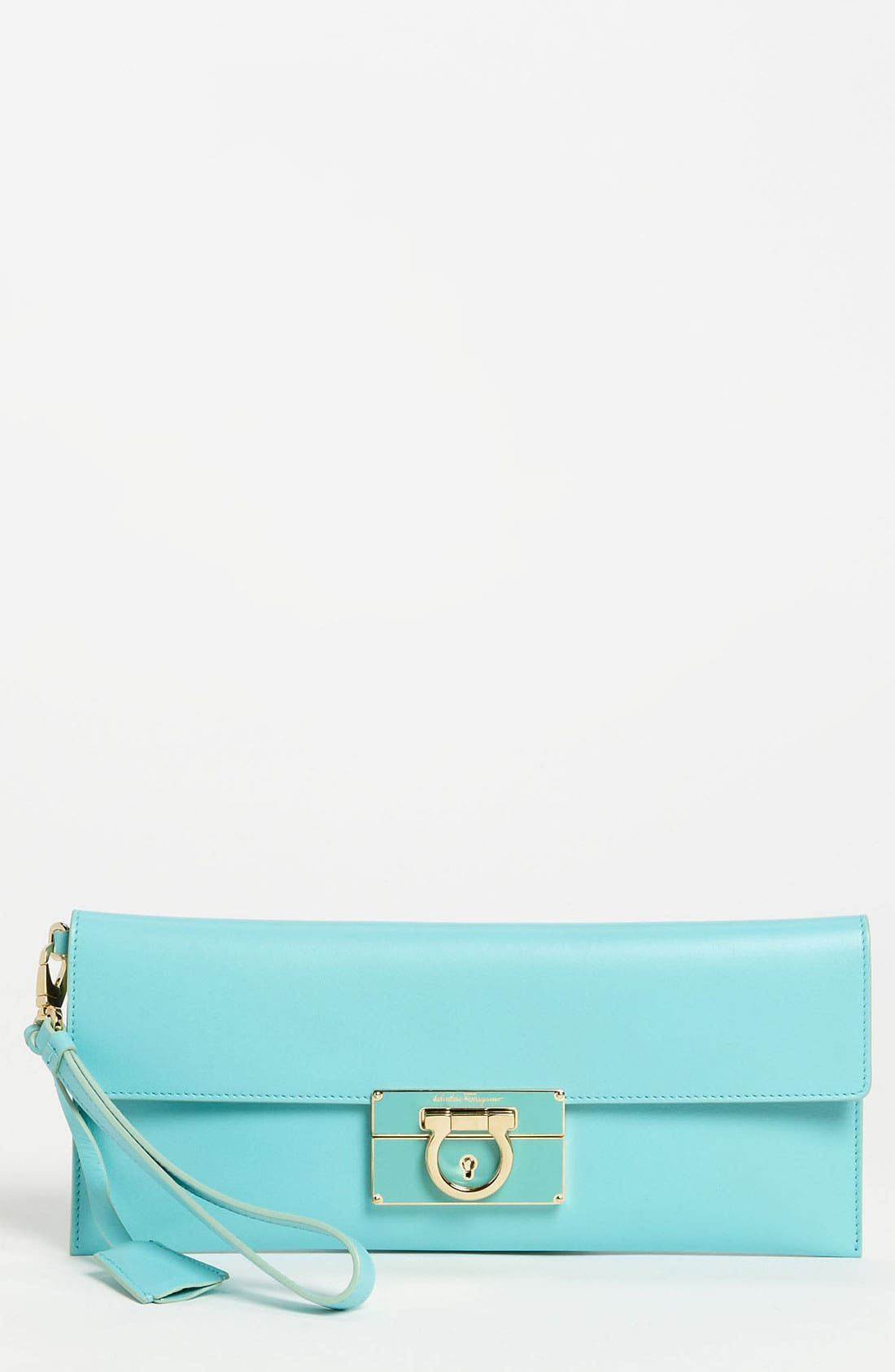 Main Image - Salvatore Ferragamo 'Afef' Leather Envelope Clutch