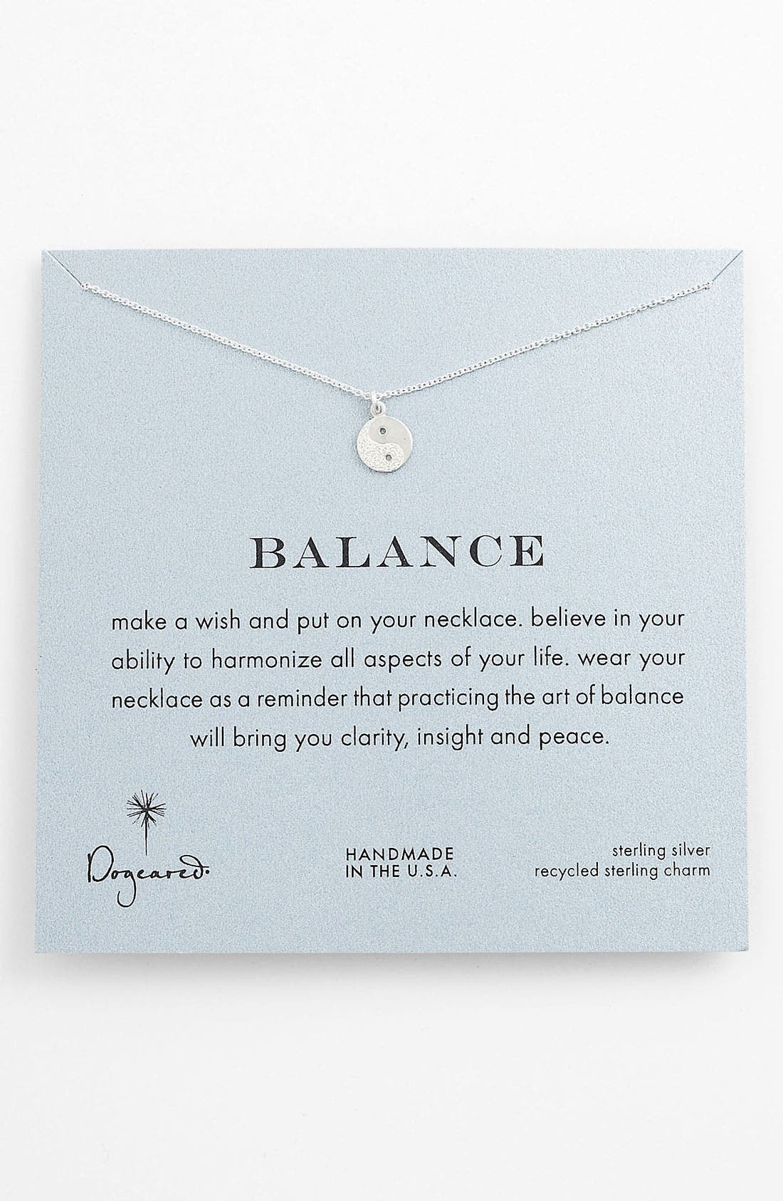 Main Image - Dogeared 'Reminder - Balance' Pendant Necklace