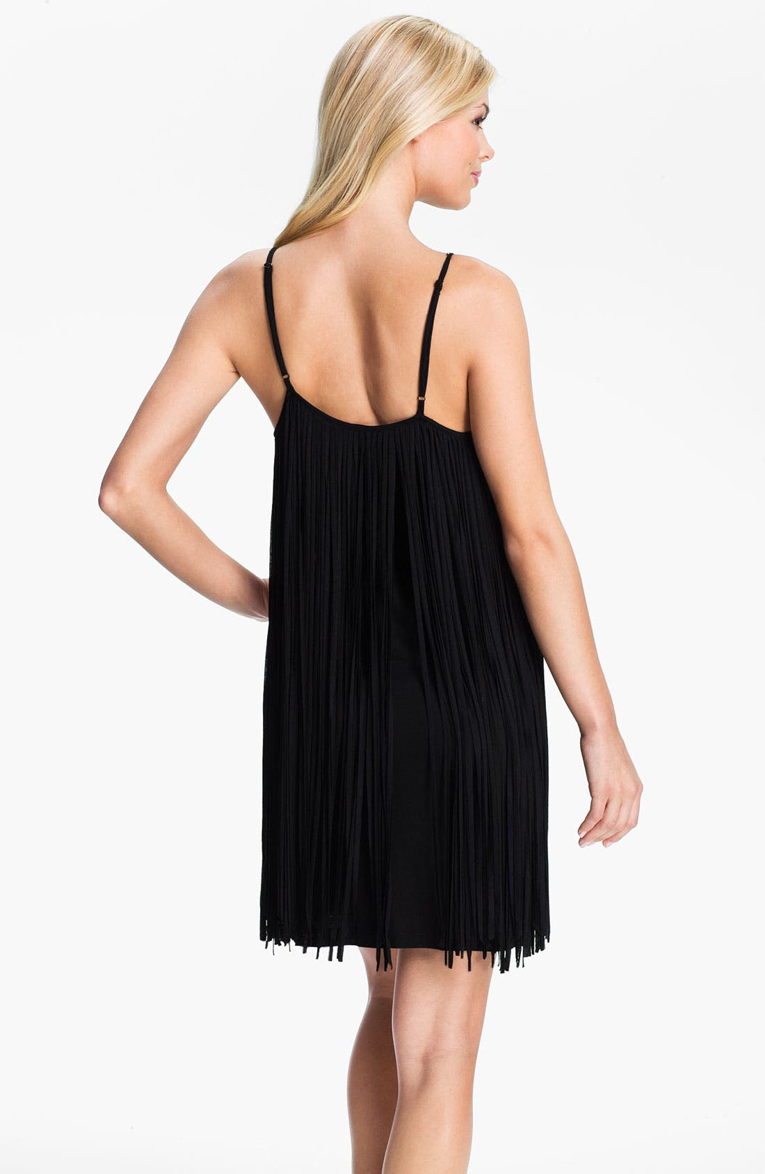 Alternate Image 2  - Badgley Mischka Fringed Cover-Up Dress