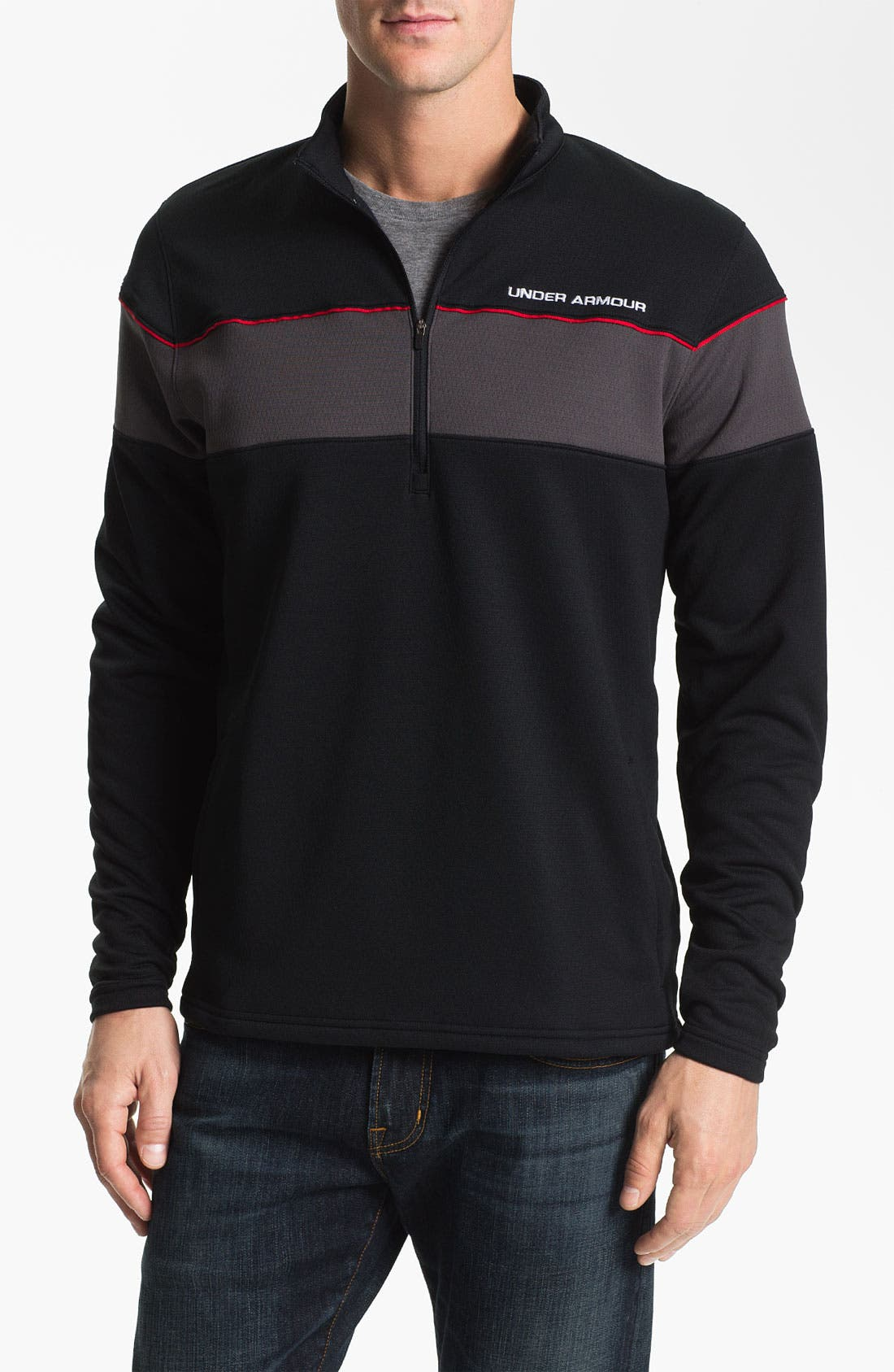 Alternate Image 1 Selected - Under Armour 'Focus 4.0' Quarter Zip Jacket