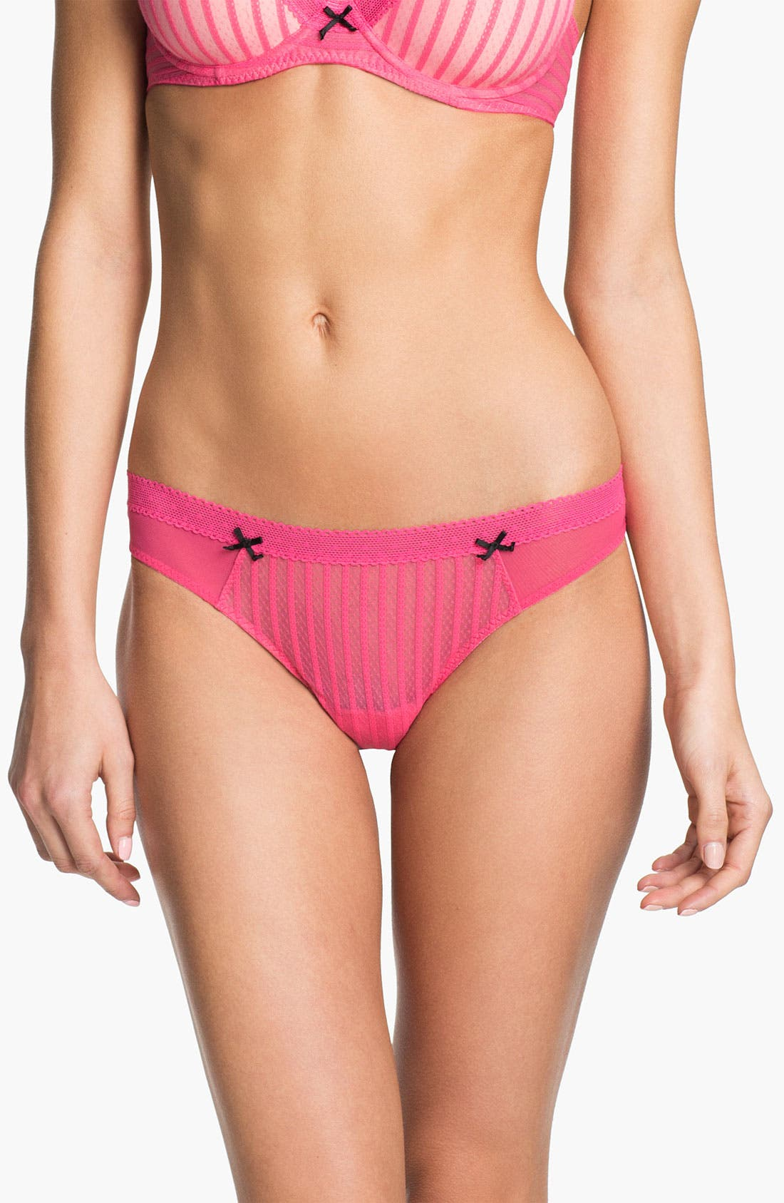 Main Image - Betsey Johnson 'Stocking Stripe' Thong