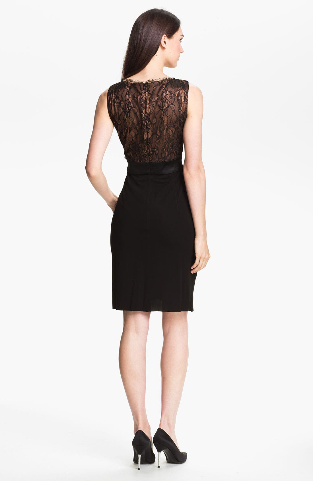 Alternate Image 2  - Suzi Chin for Maggy Boutique Lace Bodice Draped Jersey Dress