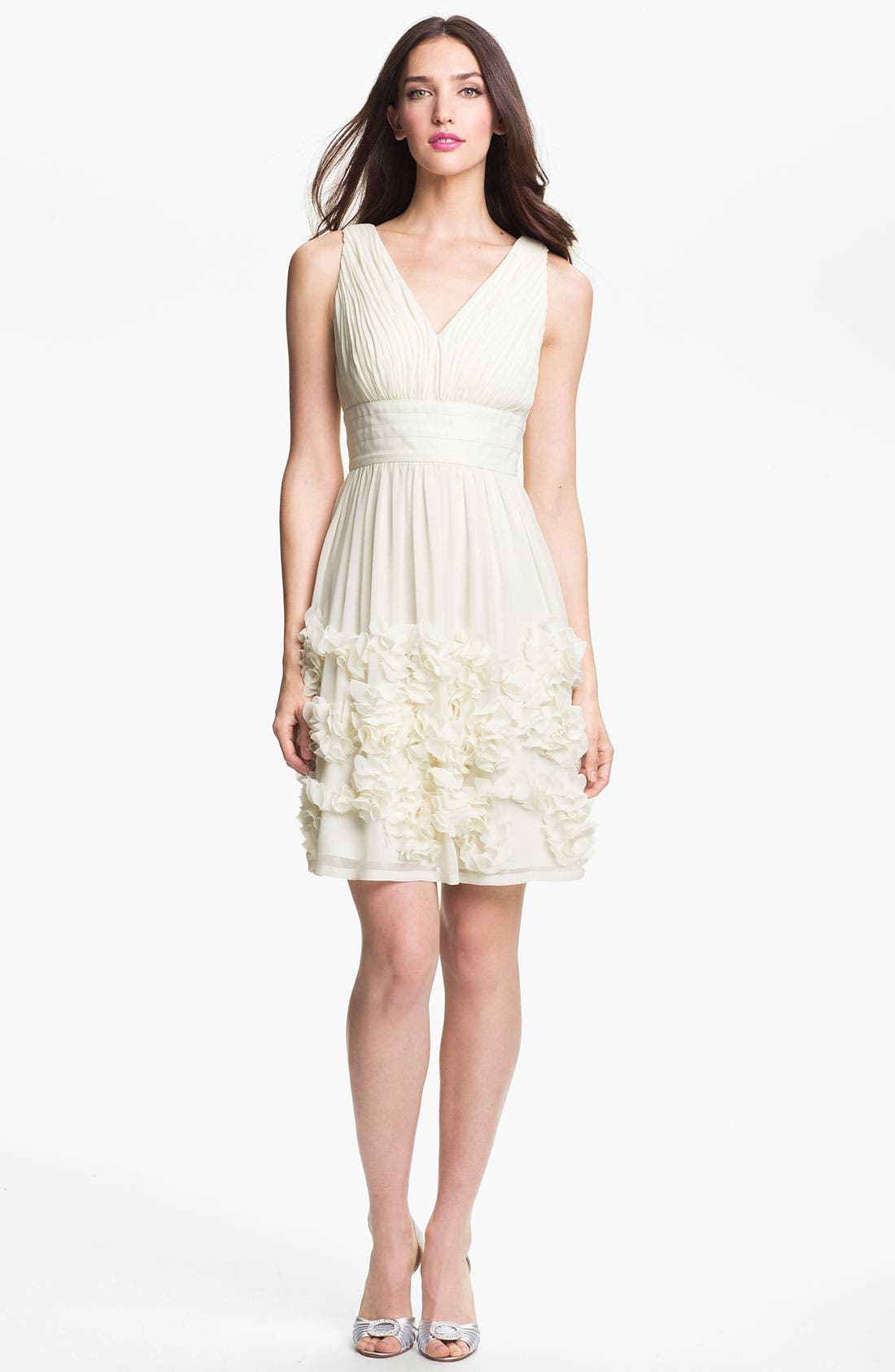 Alternate Image 1 Selected - Donna Morgan 'Eloise' Ruffle Chiffon Fit & Flare Dress