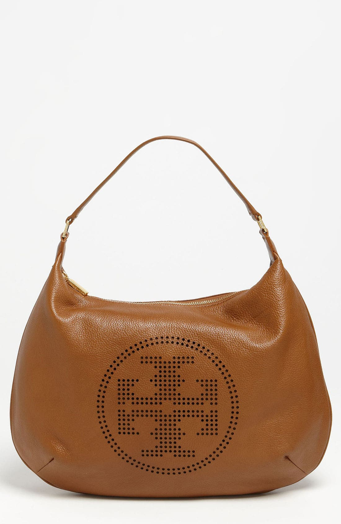 Alternate Image 1 Selected - Tory Burch Perforated Logo Hobo