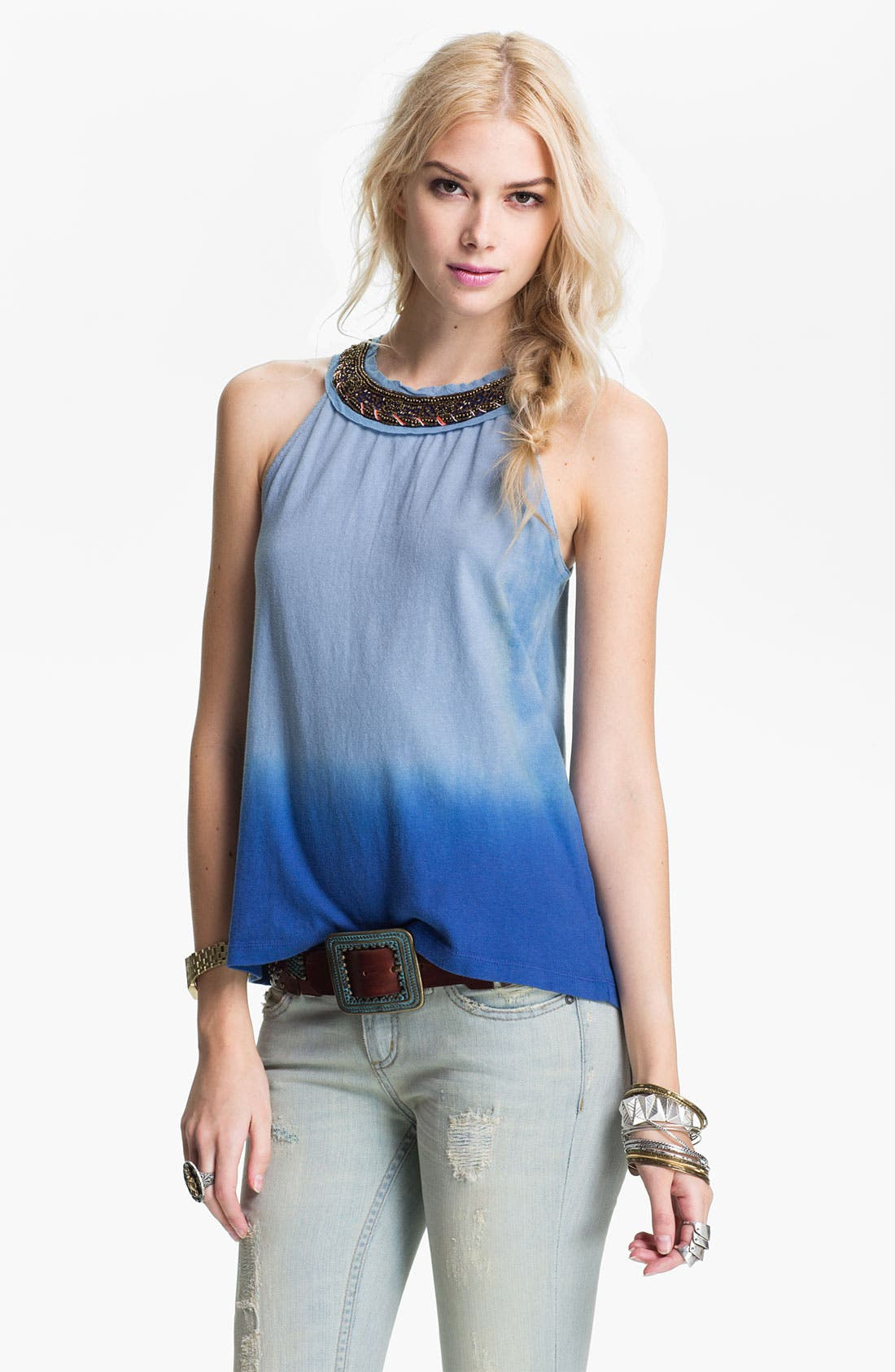 Alternate Image 1 Selected - Free People Ombré Necklace Tank