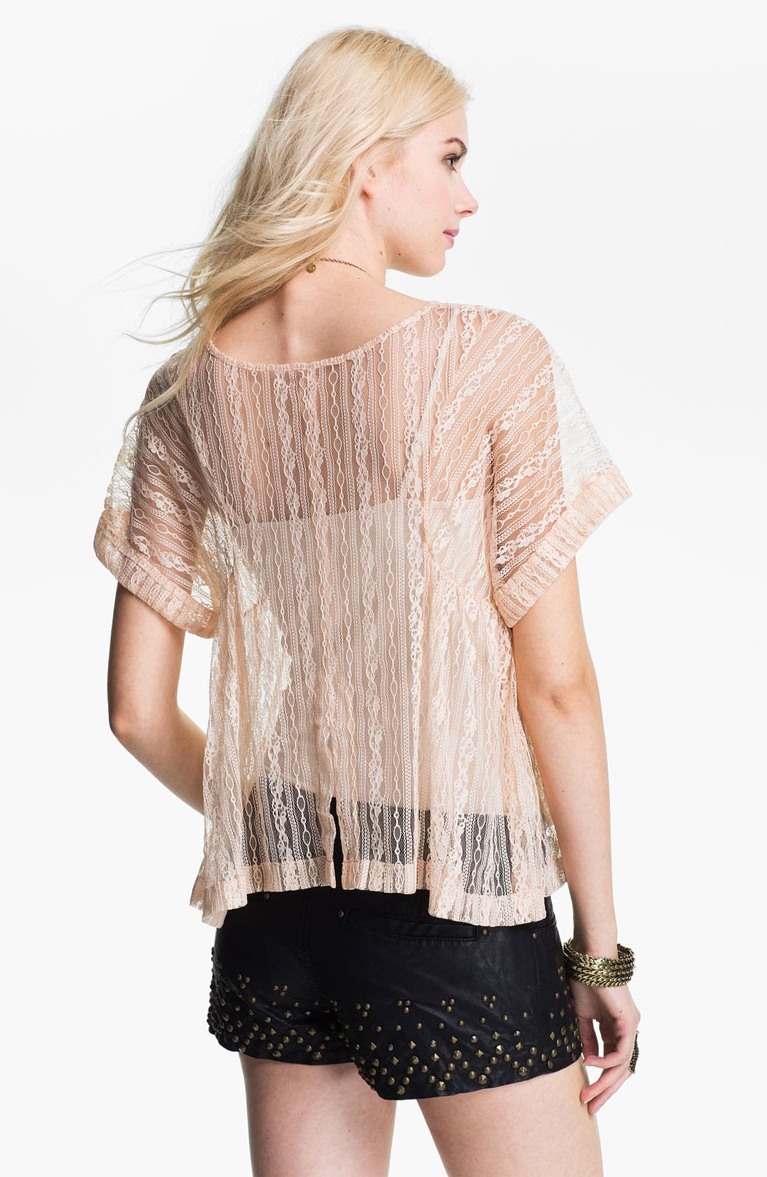 Alternate Image 2  - Free People Boxy Lace Top