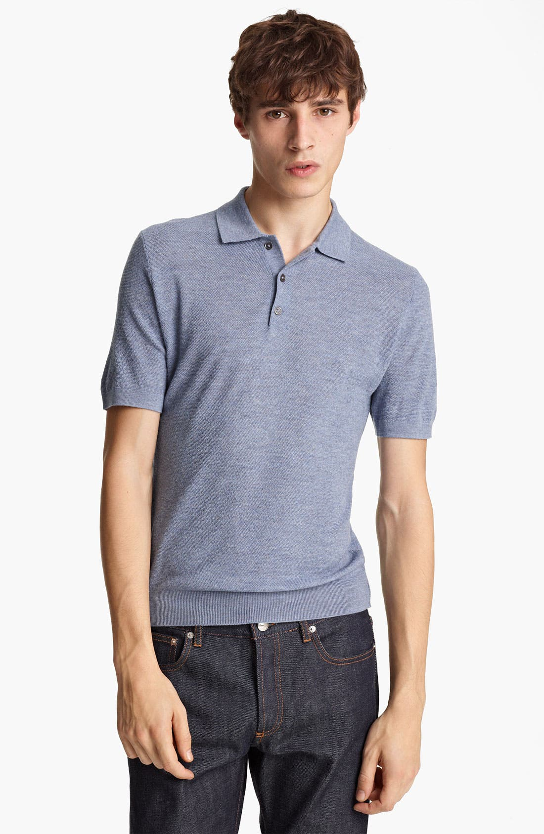 Alternate Image 1 Selected - Pringle of Scotland Merino Wool Knit Polo