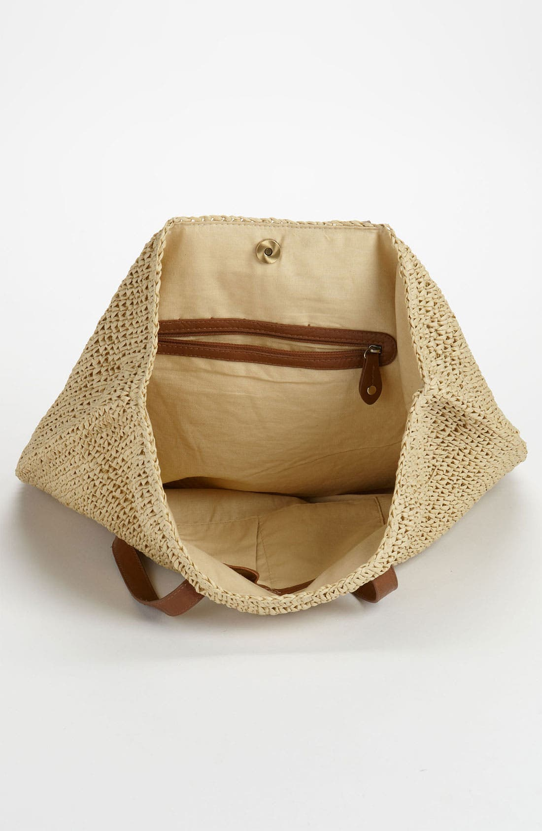 Alternate Image 3  - Straw Studios 'North South' Straw Tote