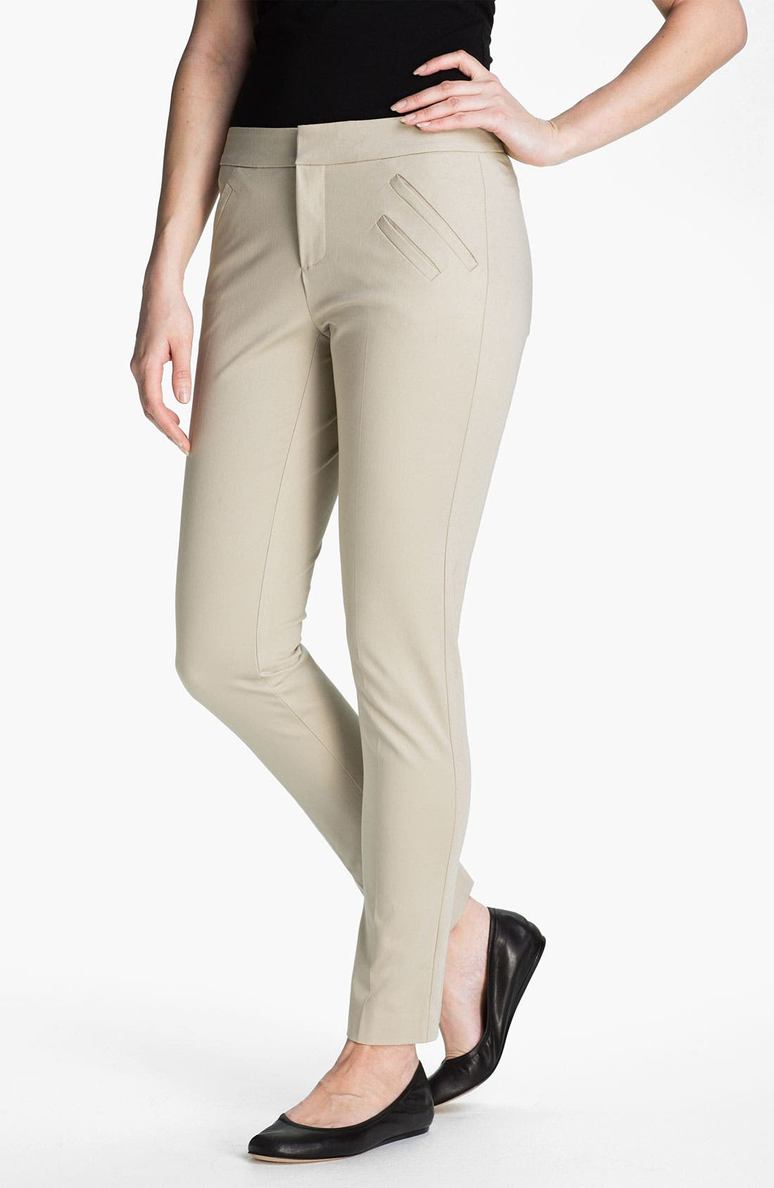 Alternate Image 1 Selected - AWoman 'Devra' Twill Pants