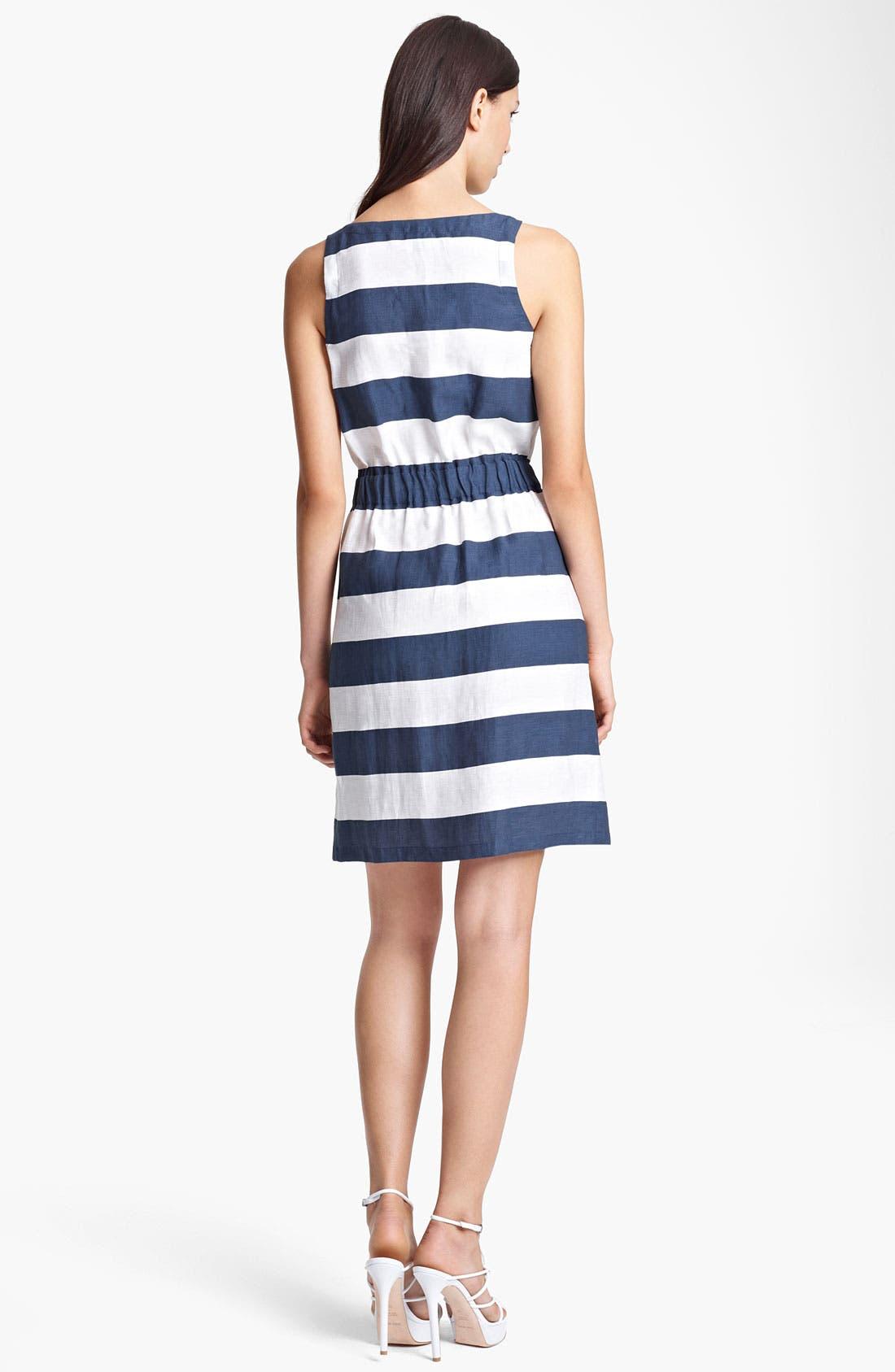 Alternate Image 2  - Armani Collezioni Stripe Zip Front Dress