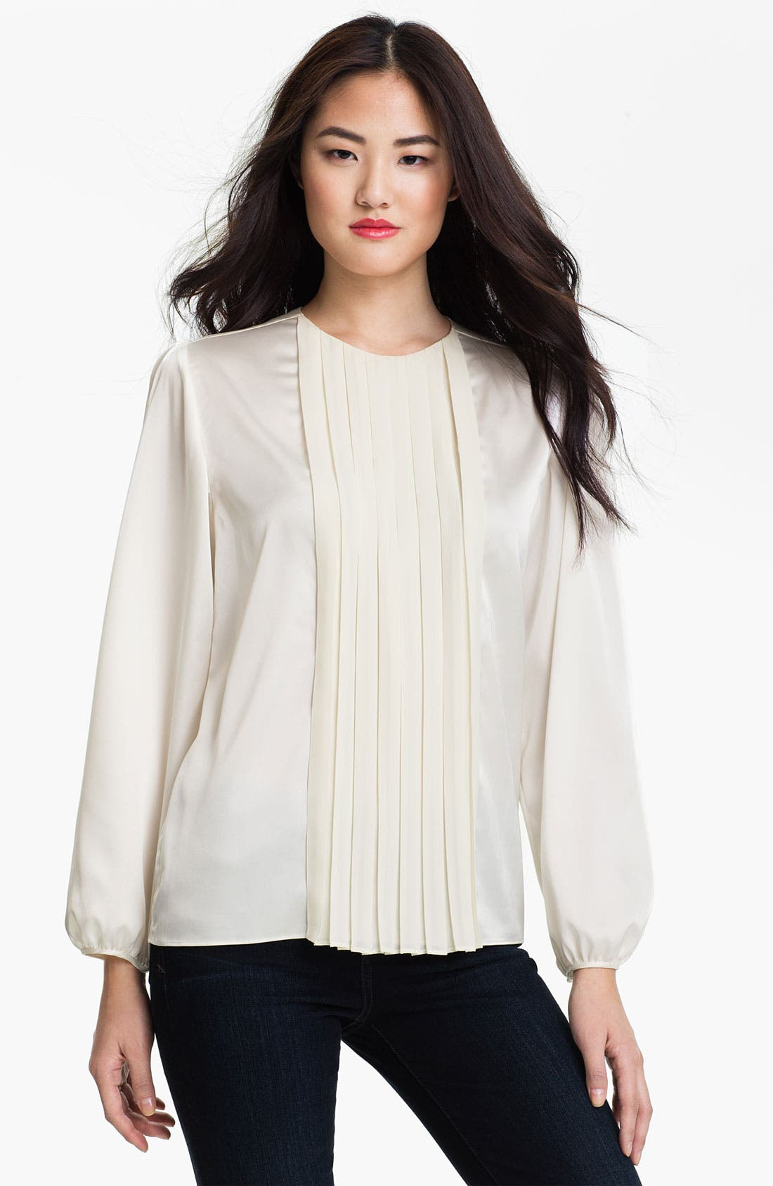 Alternate Image 1 Selected - Vince Camuto Pleat Front Blouse