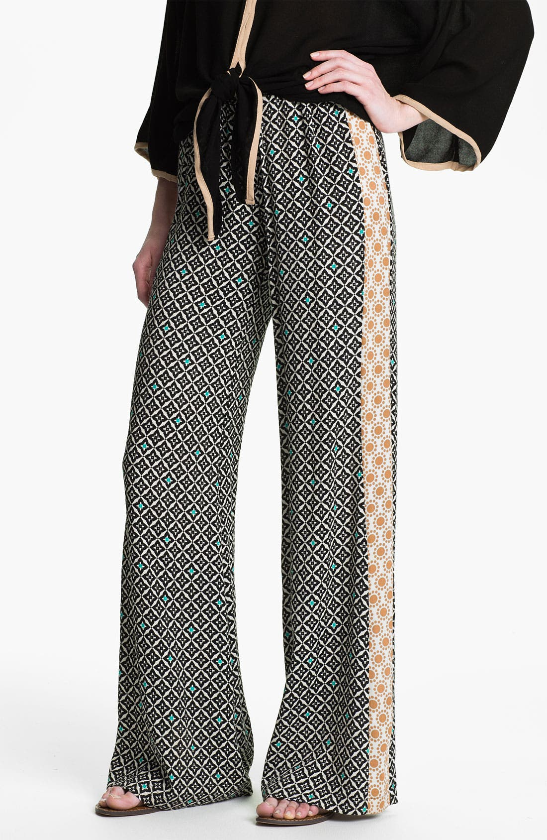 Alternate Image 1 Selected - Ella Moss 'Sun Tile' Mix Print Palazzo Pants