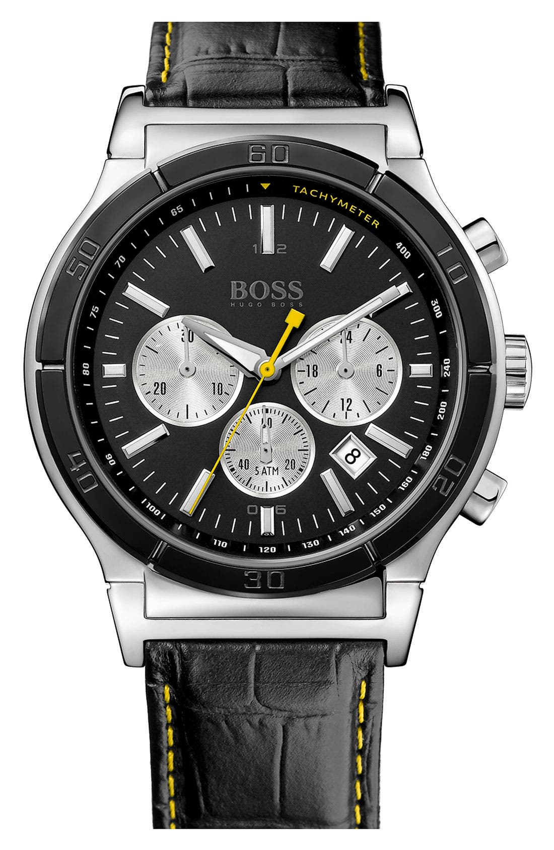 Alternate Image 1 Selected - BOSS HUGO BOSS Round Chronograph Watch, 44mm