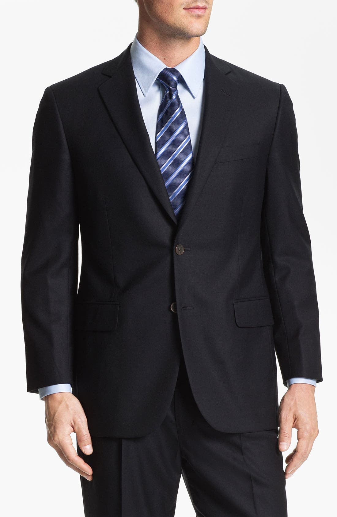 'Madison' Wool Suit,                         Main,                         color, Navy