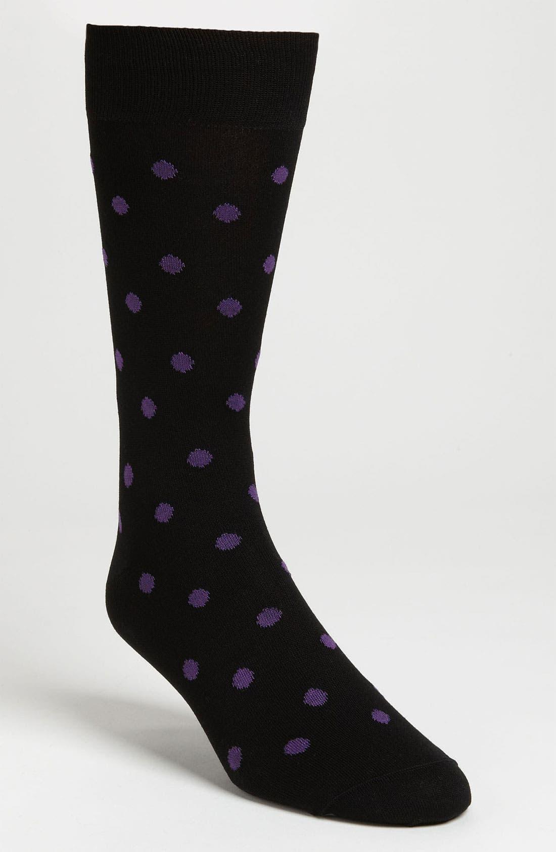 Alternate Image 1 Selected - BUGATCHI Dot Socks