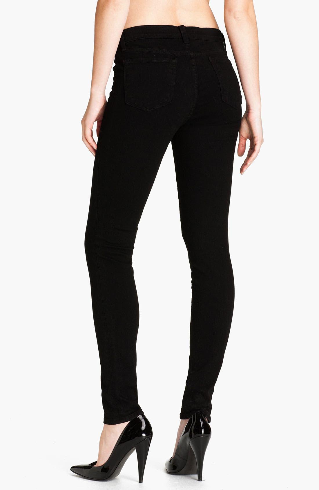 Alternate Image 2  - J Brand Skinny Stretch Ankle Jeans (Shadow)