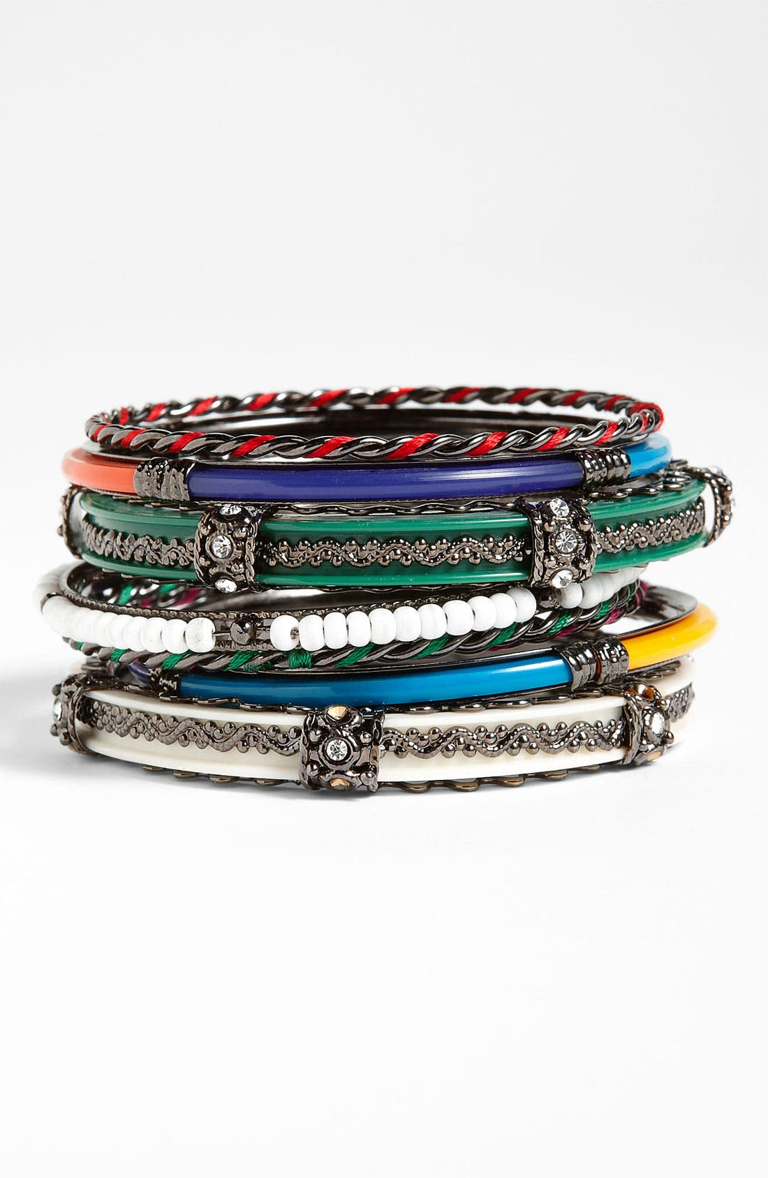 Alternate Image 1 Selected - Spring Street Bangles (Set of 8)