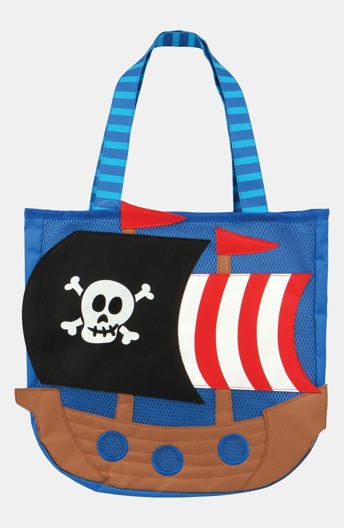 Alternate Image 1 Selected - Stephen Joseph 'Pirate' Beach Tote & Toys