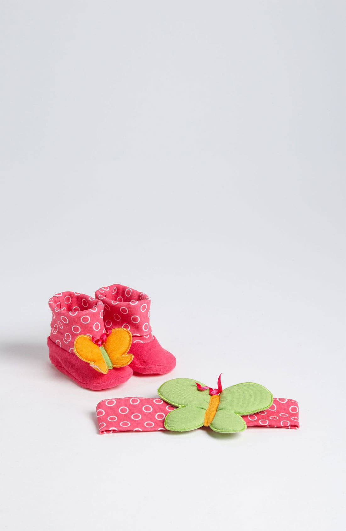 Alternate Image 1 Selected - Baby Aspen 'Butterfly' Headband & Booties (Infant)
