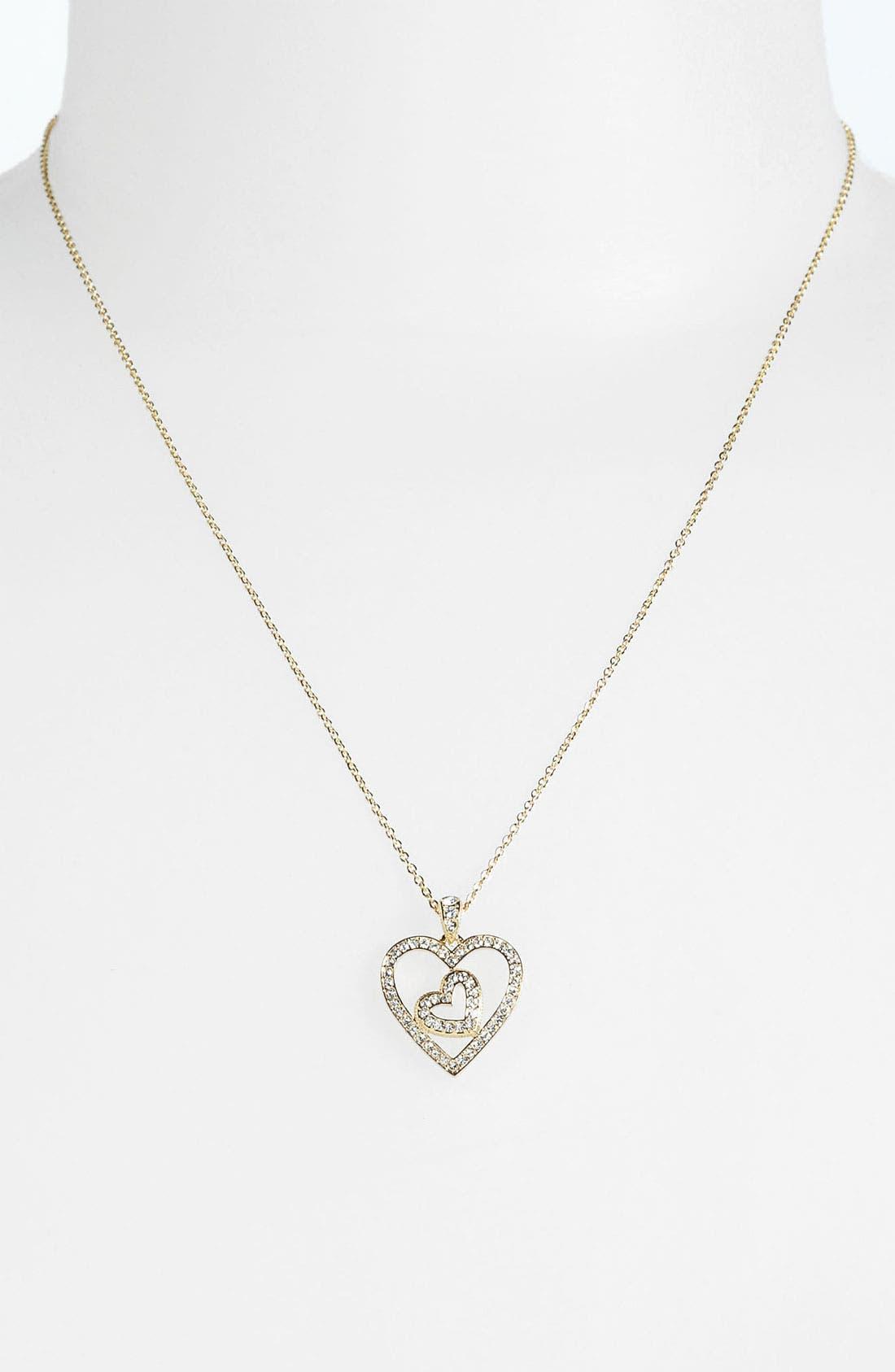 Alternate Image 2  - Nadri Boxed Heart Pendant Necklace (Nordstrom Exclusive)