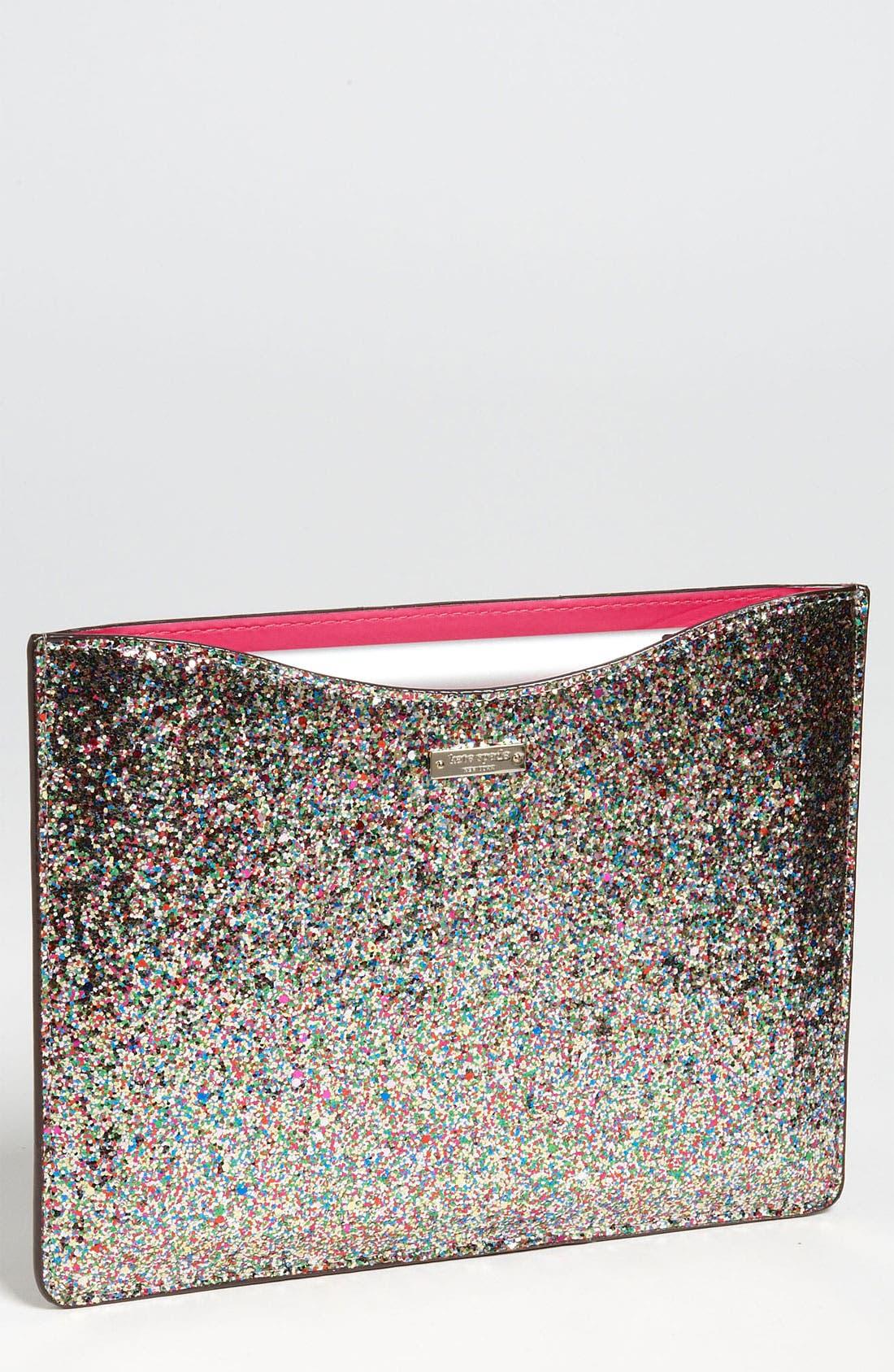 Main Image - kate spade new york 'glitter' iPad 2 & 3 sleeve