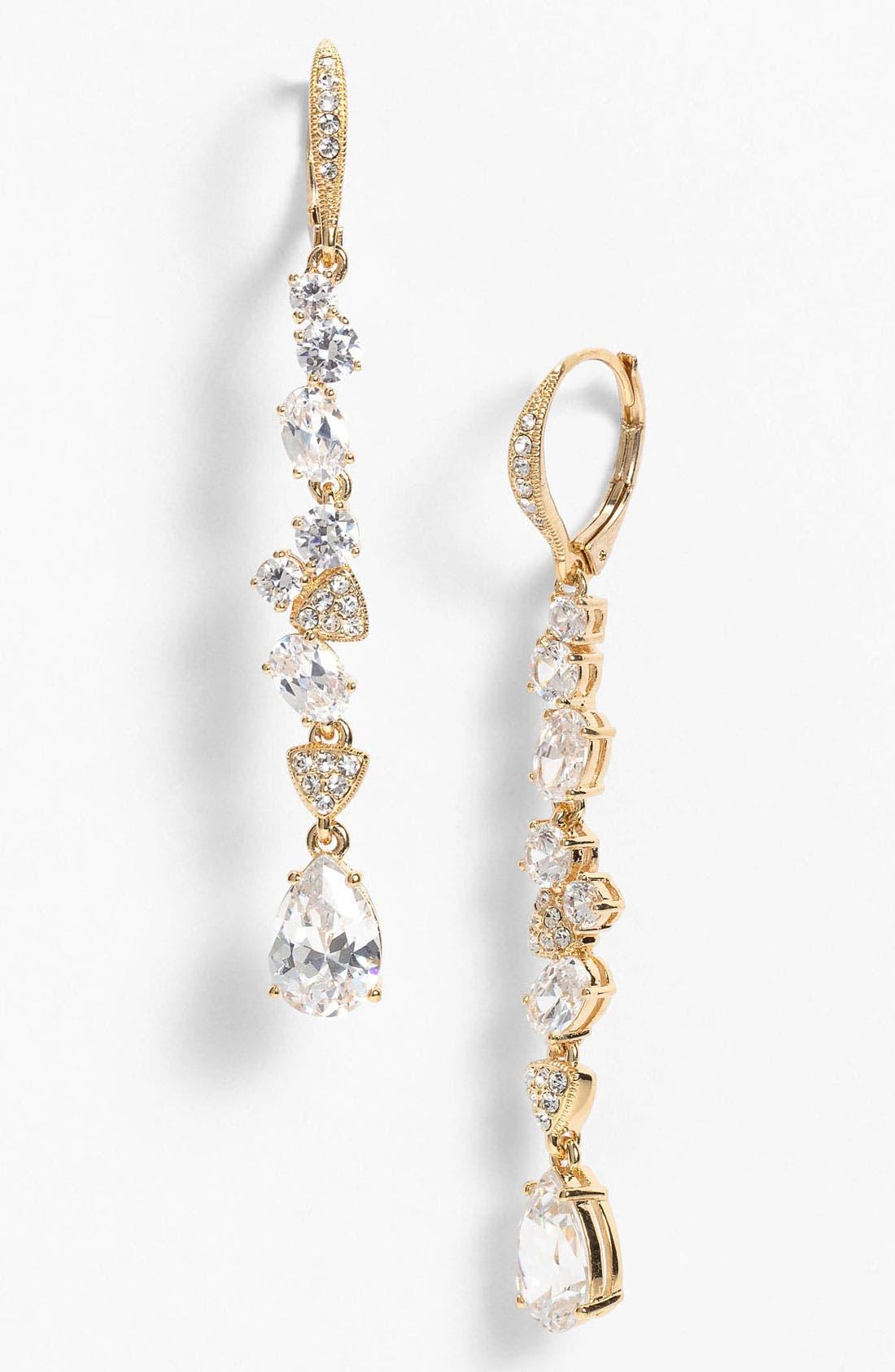 Main Image - Nadri Cubic Zirconia Cluster Linear Earrings (Nordstrom Exclusive)