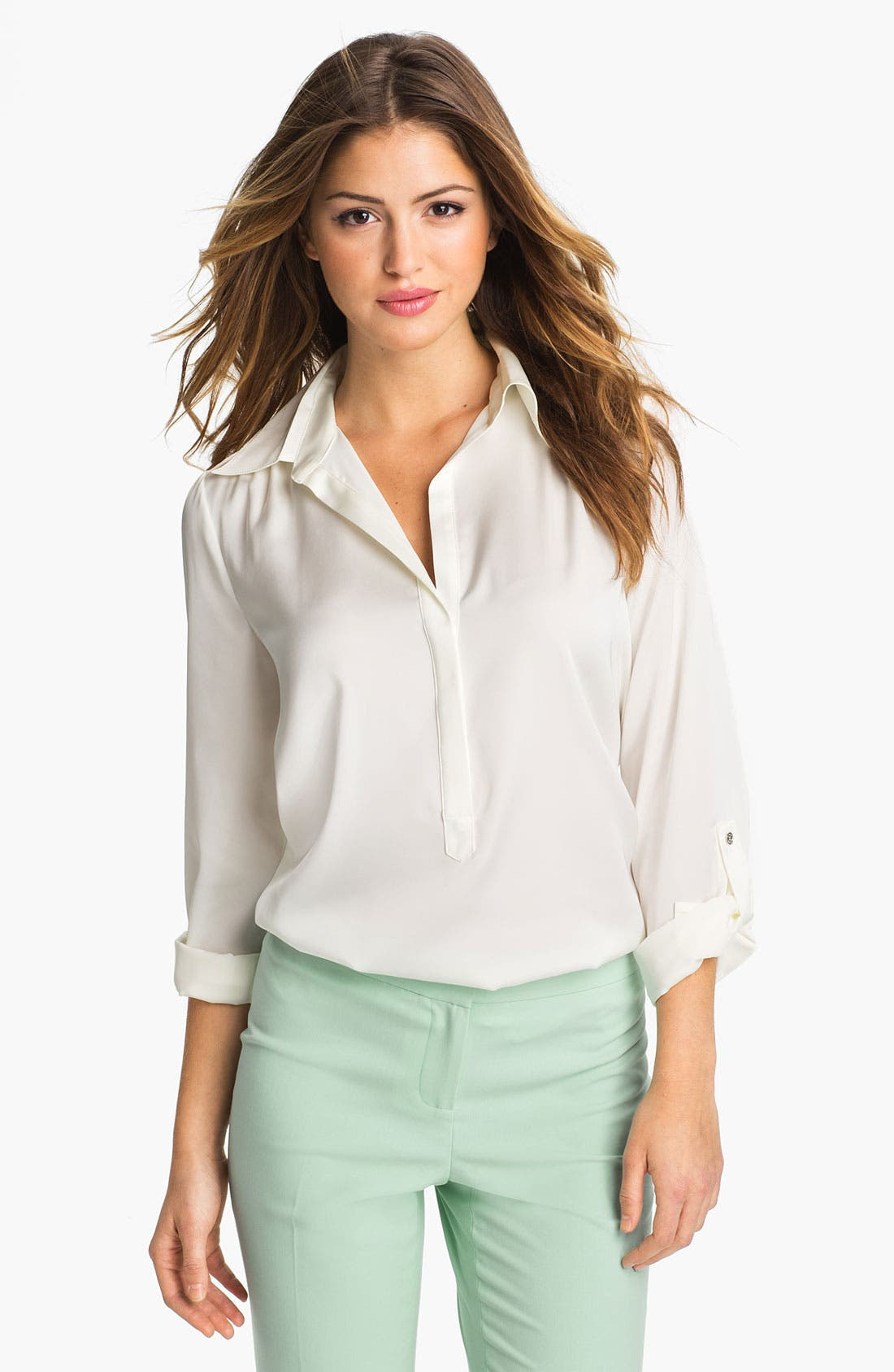 Alternate Image 1 Selected - Vince Camuto Henley Blouse